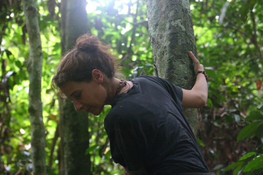 Salmi in her field site in the Congo.
