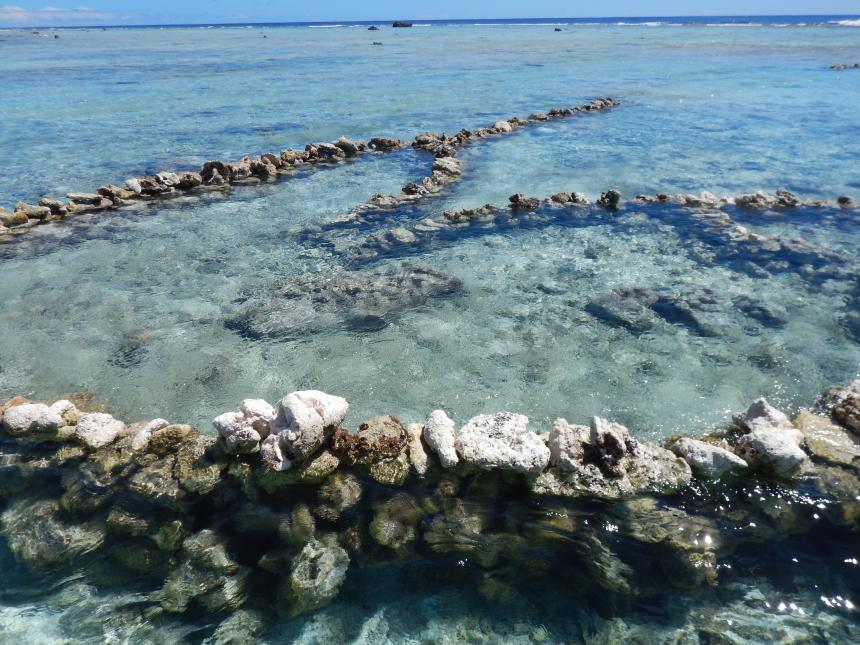 Traditional Stone Fish Traps on Manihiki