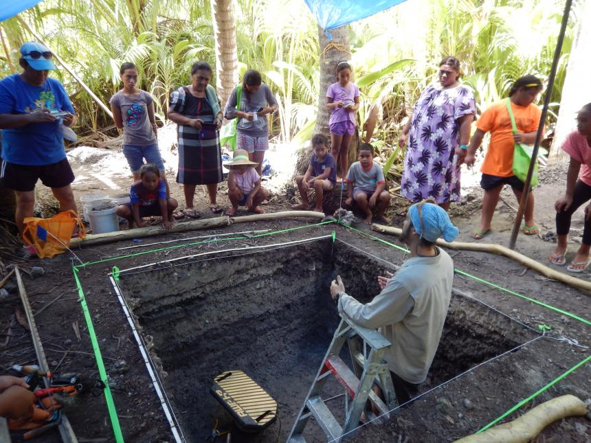 Archaeology Day on Rakahanga Atoll