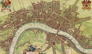 eighteen-century map of London showing the scalar effects of human networks there