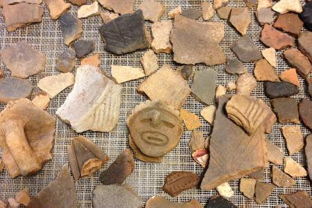 Artifacts found at the Singer-Moye field site