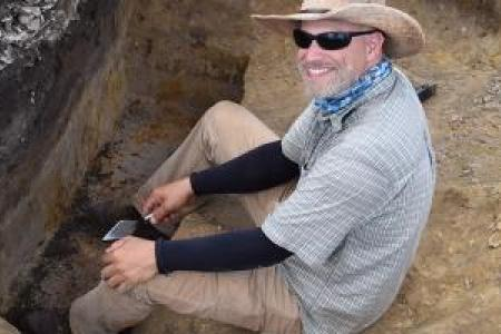 Victor Thompson Excavates a Calusa civilization shell midden in Florida